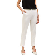 Buy Jaeger Cropped Stretch Trousers, Ivory Online at johnlewis.com