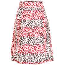 Buy Fat Face Casey Patchwork A-Line Skirt, Ivory/Red Online at johnlewis.com