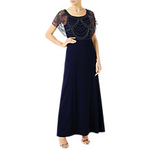 Buy Jacques Vert Beaded Shawl Maxi Dress, Navy Online at johnlewis.com