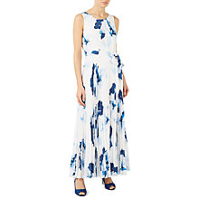 Buy Jacques Vert Floral Print Plisse Maxi Dress, Blue/Multi Online at johnlewis.com