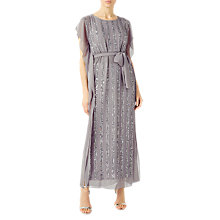 Buy Jacques Vert Sequin Column Maxi Dress, Grey Online at johnlewis.com