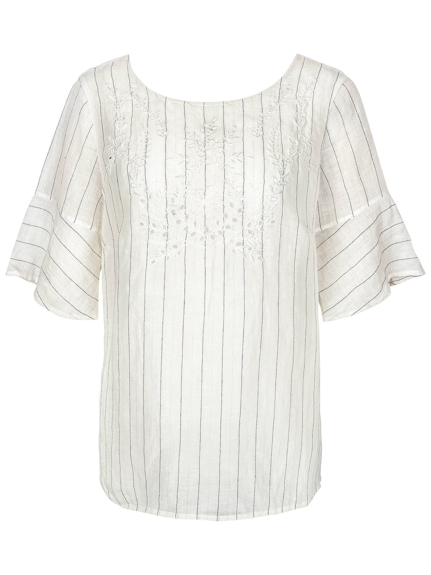 7cfac70503df22 Buy Fat Face Elizabeth Embroidered Linen Blend Top, Ivory, 6 Online at  johnlewis.