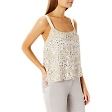 Buy Coast Cherries Sequin Cami Top, Natural Online at johnlewis.com