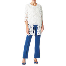 Buy Jacques Vert Lace Edge to Edge Jacket, Light Neutral Online at johnlewis.com