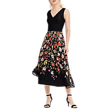 Buy Oasis Spring Bodice Lace Dress, Multi/Black Online at johnlewis.com