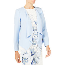 Buy Jacques Vert Waterfall Crepe Jacket, Pastel Blue Online at johnlewis.com