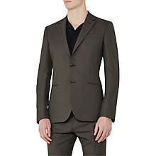 Buy Reiss Kamara Wool Slim Fit Suit Jacket, Khaki Online at johnlewis.com