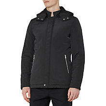 Buy Reiss Elstree Casual Showerproof Hooded Jacket, Navy Online at johnlewis.com