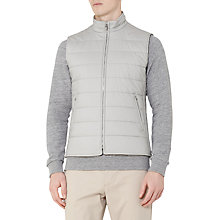 Buy Reiss Cash Padded Cotton Gilet, Stone Online at johnlewis.com