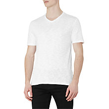Buy Reiss Joker Slub V-Neck T-Shirt, Off White Online at johnlewis.com