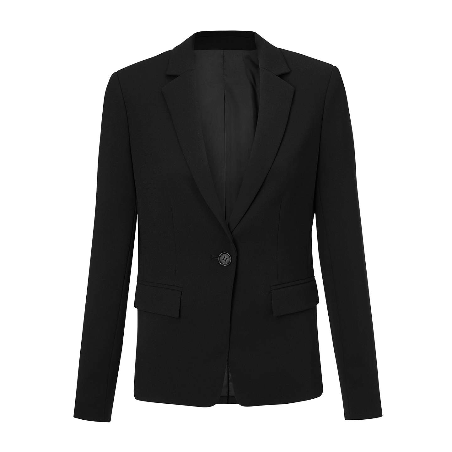 BuyJohn Lewis Eva Crepe Jacket, Black, 8 Online at johnlewis.com
