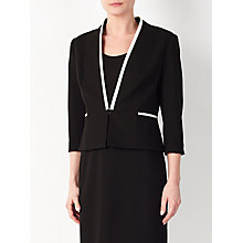 Buy John Lewis Sienna Tipped Ponte Jacket, Black Online at johnlewis.com