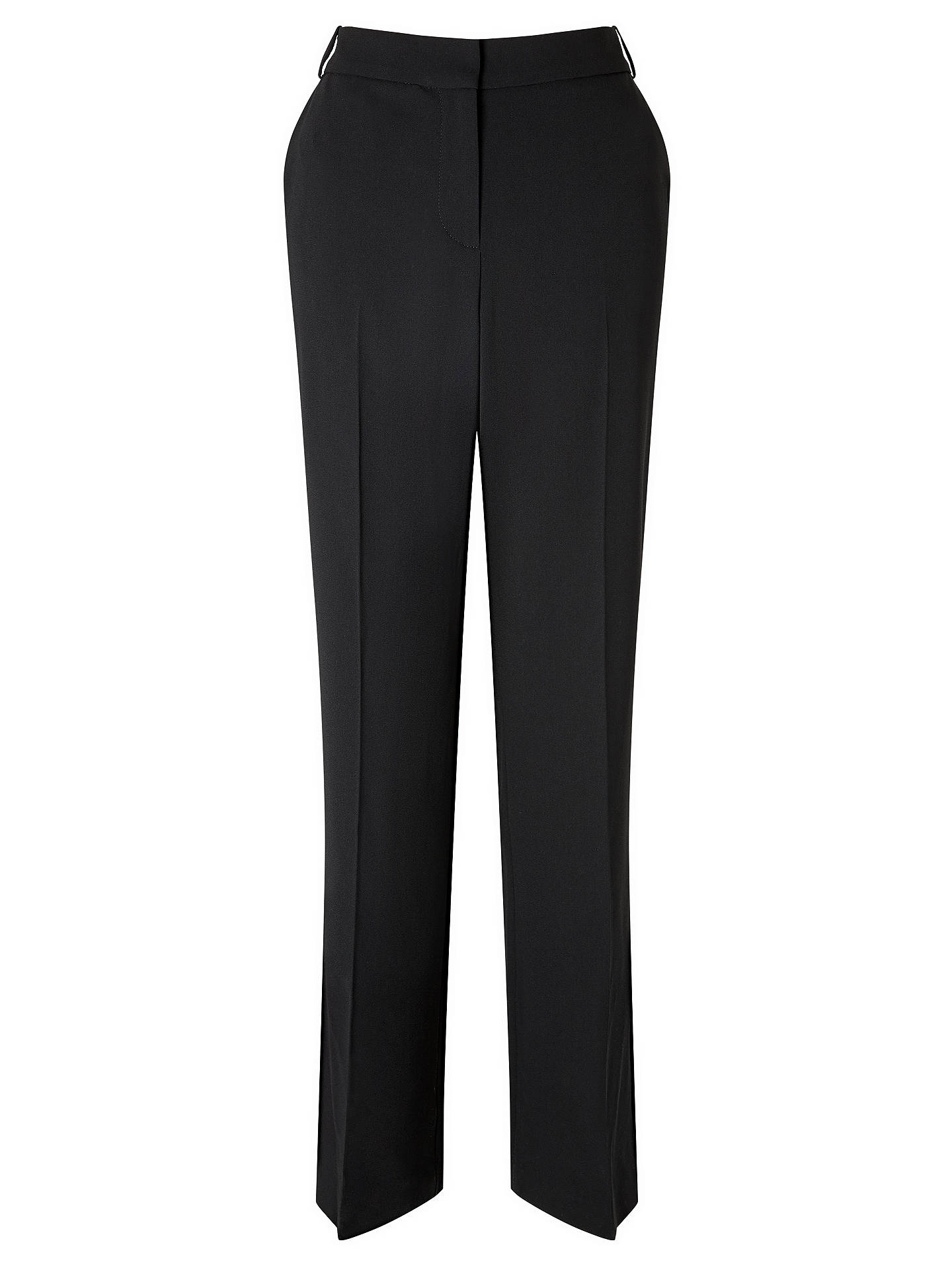 BuyJohn Lewis & Partners Eva Crepe Bootcut Trousers, Black, 8 Online at johnlewis.com