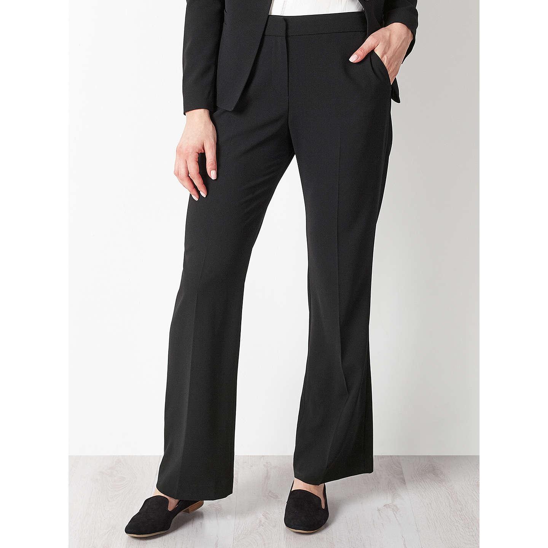 BuyJohn Lewis Eva Crepe Bootcut Trousers Black