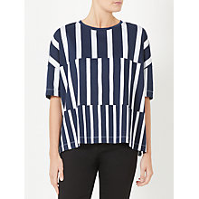 Buy Kin by John Lewis Block Stripe Print T-Shirt, Navy Online at johnlewis.com