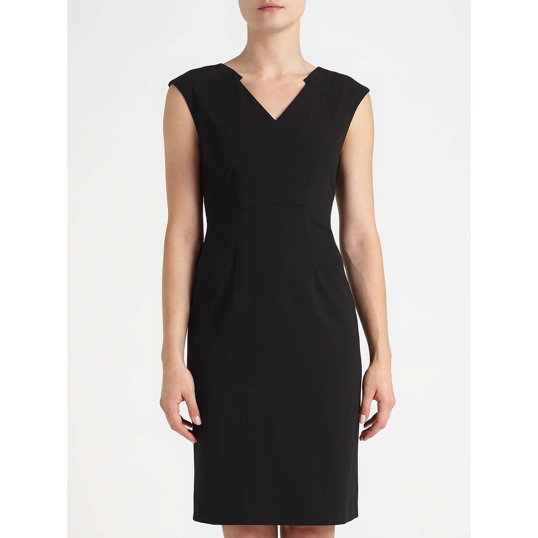 BuyJohn Lewis Eva Crepe Dress Black 8