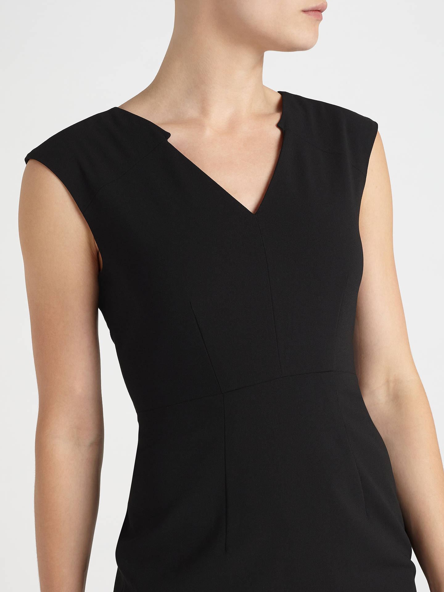 BuyJohn Lewis & Partners Eva Crepe Dress, Black, 8 Online at johnlewis.com