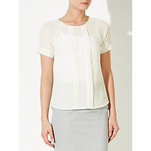 Buy John Lewis Pleat Front Top, Cream Online at johnlewis.com