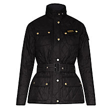 Buy Barbour International Quilted Jacket, Black Online at johnlewis.com
