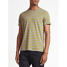 Buy Kin by John Lewis Breton Stripe T-Shirt, Grey/Yellow Online at johnlewis.com
