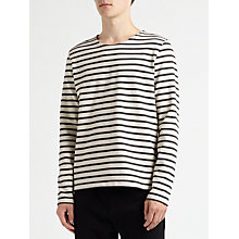 Buy Kin by John Lewis Breton Stripe Long Sleeve T-Shirt, Charcoal Online at johnlewis.com