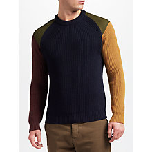 Buy JOHN LEWIS & Co. Made in Manchester Colour Block Jumper, Navy Online at johnlewis.com