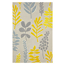 Buy John Lewis Scandi Leaves Rug, Citrine/Grey Online at johnlewis.com