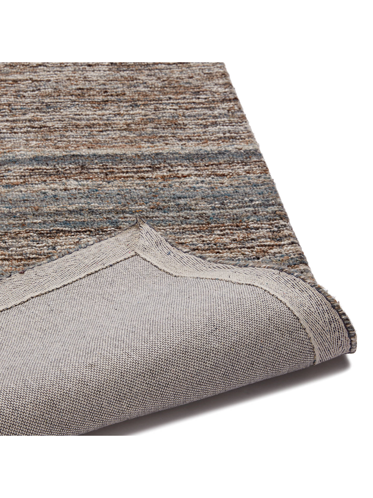 John Lewis Partners Scandi Sketch Stripe Rug Grey At