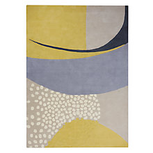 Buy John Lewis Scandi Deco Lulu Rug, Citrine/Grey Online at johnlewis.com