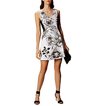 Buy Karen Millen Botanical Print Skater Dress, Black/White Online at johnlewis.com