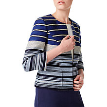 Buy Precis Petite Riviera Striped Jacket, Multi/Blue Online at johnlewis.com