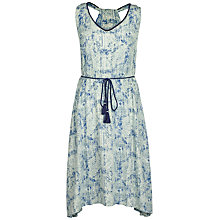 Buy Fat Face Penhale Etched Dress, Ivory/Multi Online at johnlewis.com