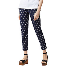 Buy Warehouse Bandana Printed Trousers, Navy Online at johnlewis.com