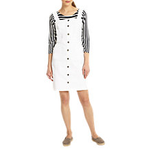 Buy Phase Eight Saira Button Through Dress, White Online at johnlewis.com
