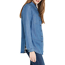 Buy Oasis Georgie Shirt, Denim Online at johnlewis.com