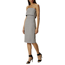 Buy Karen Millen Strapless Textured Dress, Black/White Online at johnlewis.com