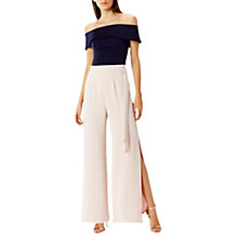 Buy Coast Morgan Side Split Trousers, Blush Online at johnlewis.com