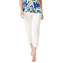 Buy Precis Petite Twill Cropped Trousers, White Online at johnlewis.com