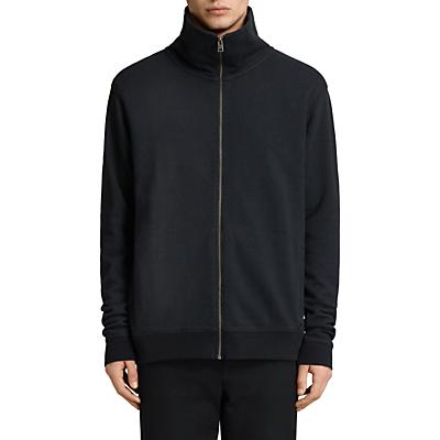AllSaints Fordala Funnel Neck Full-Zip Sweatshirt, Cinder Marl