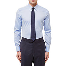Buy Jaeger Dobby Textured Slim Fit Shirt, Blue Online at johnlewis.com