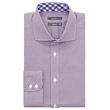 Buy John Lewis Non Iron Semi Plain Regular Fit Shirt, Berry Online at johnlewis.com