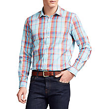 Buy Thomas Pink Brendan Check Classic Fit Shirt, Green/Multi Online at johnlewis.com