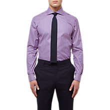 Buy Jaeger Bold Stripe Regular Fit Shirt, Pink Online at johnlewis.com