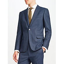 Buy Kin by John Lewis Palmer Peak Lapel Slim Fit Suit Jacket, Blue Marl Online at johnlewis.com