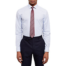 Buy Jaeger Dobby Square Weave Slim Fit Shirt, Light Blue Online at johnlewis.com