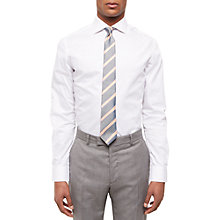 Buy Jaeger Seersucker Slim Fit Shirt, White Online at johnlewis.com