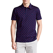 Buy Thomas Pink Sion Textured Classic Fit Polo Shirt, Navy/Pink Online at johnlewis.com