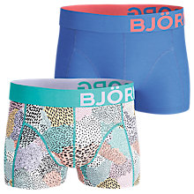 Buy Bjorn Borg Camo Print Plain Trunks, Pack of 2, Blue Online at johnlewis.com