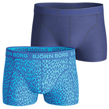 Buy Bjorn Borg Plain Ziggy Stretch Cotton Short Trunks, Pack of 2, Blue Online at johnlewis.com