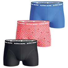 Buy Bjorn Borg Contrast Spot Solid Short Trunks, Pack of 3 Online at johnlewis.com
